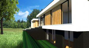 Moderne kubistische villa