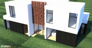 Kubistische Yoga Villa 3D
