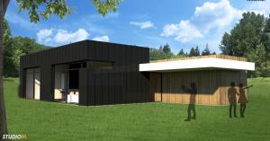 Kubistische bungalow 3D 1 ALO
