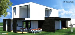 Kubustische Villa 3D