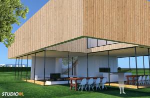 Transparante Villa 3D sfeerimpressie
